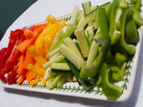 Rainbow crudite